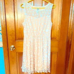 Charming Charlie Pink Polka Dot Dress